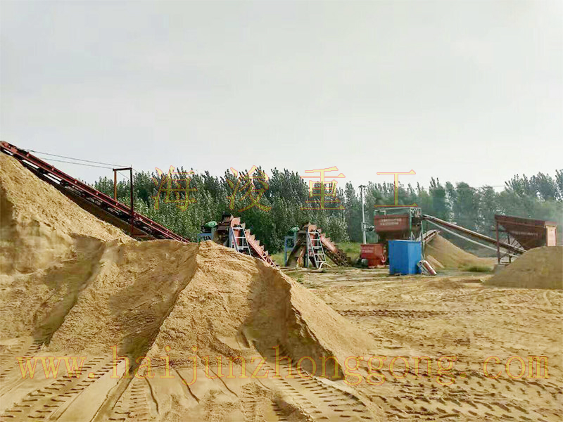 风化砂双挖斗破碎水洗制沙机