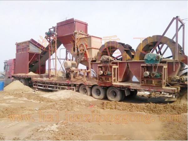 移动式破碎制砂洗沙机